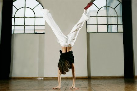 Boy Doing Handstand Stock Photo - Rights-Managed, Code: 700-01788372