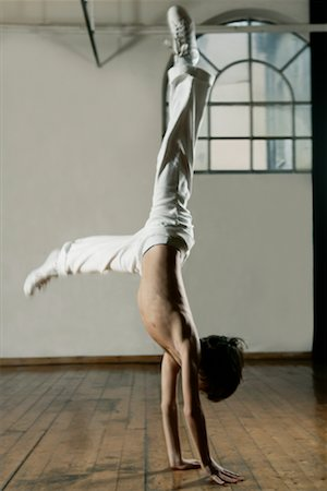 Boy Doing Handstand Stock Photo - Rights-Managed, Code: 700-01788373