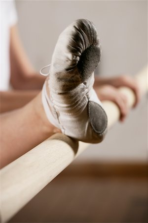 Close-up of Dancer's Foot on Bar Stock Photo - Rights-Managed, Code: 700-01788380