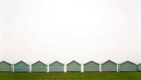 Row of Beach Huts, England Stock Photo - Rights-Managed, Code: 700-01790166