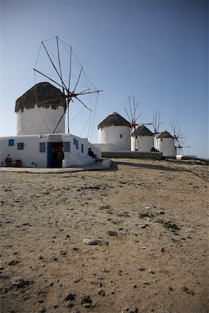 simsearch:600-00954324,k - Windmills, Mykonos, Greece Fotografie stock - Rights-Managed, Codice: 700-01827225