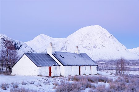 Black Rock Cottage, Rannoch Moor, Near Glen Coe, Scotland Stock Photo - Rights-Managed, Code: 700-01827266