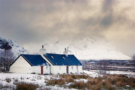 elements (weather) - Black Rock Cottage, Rannoch Moor, Near Glen Coe, Scotland Stock Photo - Rights-Managed, Code: 700-01827263