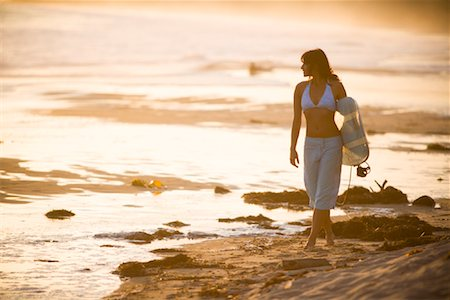 southern california - Surfer Walking on the Beach, Newport Beach, Orange County, California, USA Stock Photo - Rights-Managed, Code: 700-01837398