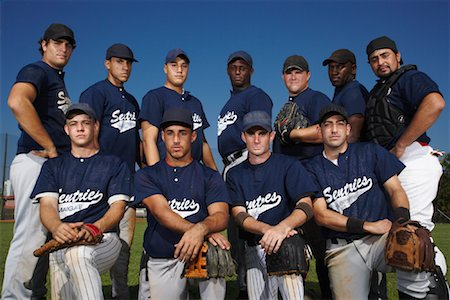 Portrait of Baseball Team Stock Photo - Rights-Managed, Code: 700-01838404