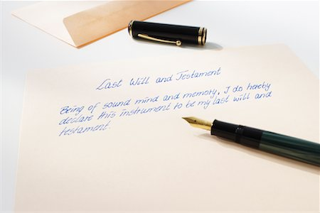 Last Will and Testament Stock Photo - Rights-Managed, Code: 700-01838488