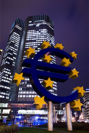 European Central Bank Building, Frankfurt, Hessen, Germany Stock Photo - Rights-Managed, Code: 700-01879227