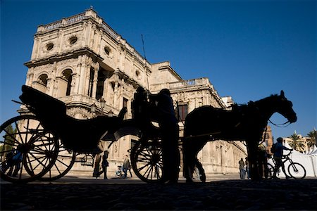 Horse-Drawn Carriage, San Francisco Plaza, Seville, Spain Stock Photo - Rights-Managed, Code: 700-01879846