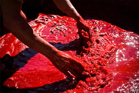 dyed - Leather Tannery, Medina of Fez, Morocco Stock Photo - Rights-Managed, Code: 700-01879935