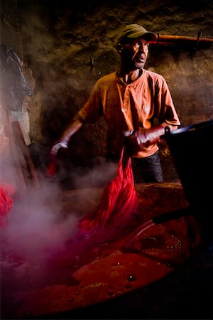 dyed - Dyers Souk, Medina of Marrakech, Morocco Stock Photo - Rights-Managed, Code: 700-01879981