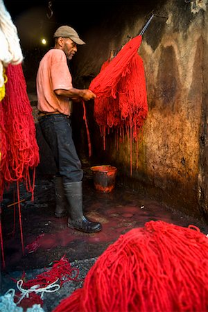 dyed - Dyers Souk, Medina of Marrakech, Morocco Stock Photo - Rights-Managed, Code: 700-01879982
