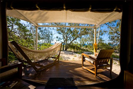 Interior of Tent, Wilson Island, Queensland, Australia Stock Photo - Rights-Managed, Code: 700-01880084
