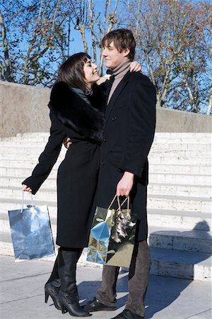 Couple With Shopping Bags, Rome, Italy Stock Photo - Rights-Managed, Code: 700-01880464