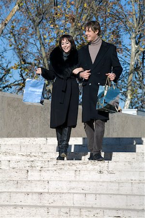 Couple With Shopping Bags, Rome, Italy Stock Photo - Rights-Managed, Code: 700-01880465