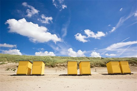 Dressing Cabins on Beach, Callantsoog, North Holland, Netherlands Stock Photo - Rights-Managed, Code: 700-01955241