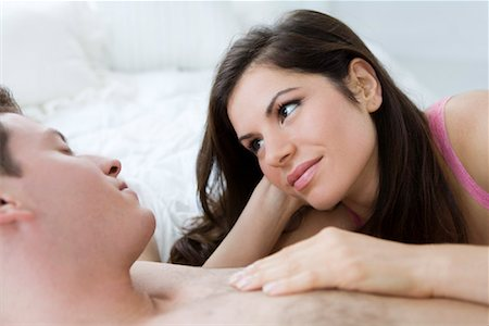 Couple in Bed Stock Photo - Rights-Managed, Code: 700-01955513