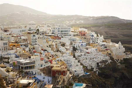Overview of City, Santorini, Greece Stock Photo - Rights-Managed, Code: 700-01955728