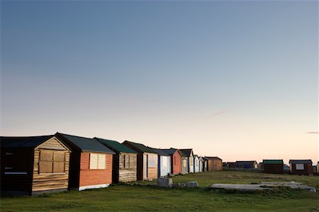 Row of Beach Huts, Portland Bill, Dorset, England Stock Photo - Rights-Managed, Code: 700-01953796