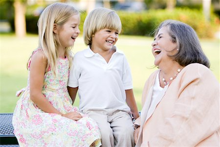 Portrait of Grandmother With Grandchildren Stock Photo - Rights-Managed, Code: 700-01953893