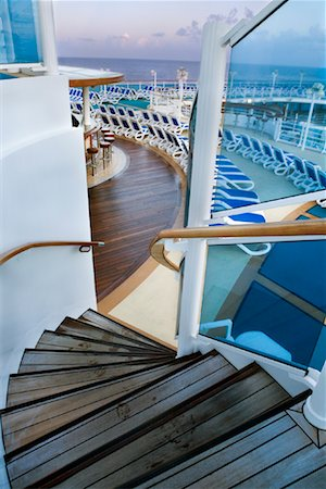 Staircase on Cruise Ship, Caribbean Sea Stock Photo - Rights-Managed, Code: 700-01993316