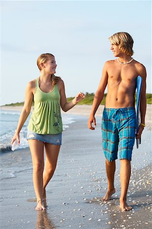 Couple Walking on the Beach, South Florida, Florida, USA Stock Photo - Rights-Managed, Code: 700-02046249