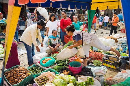 Fruit and Vegetable Stand at Market, Porsea, Sumatra, Indonesia Stock Photo - Rights-Managed, Code: 700-02046565