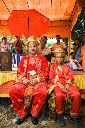 Groom and Best Man, Pasar Kambang, Sumatra, Indonesia Stock Photo - Rights-Managed, Code: 700-02046621