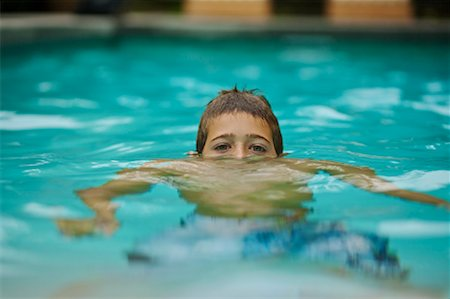 Portrait of Boy in Swimming Pool, Corona Del Mar, Newport Beach, California, USA Stock Photo - Rights-Managed, Code: 700-02046878