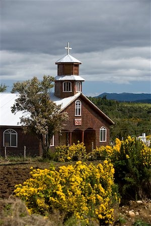 Chapel on Chiloe Island, Chile Stock Photo - Rights-Managed, Code: 700-02046900