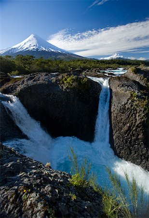 Petrohue River and Volcano in Background, Chile Stock Photo - Rights-Managed, Code: 700-02046901