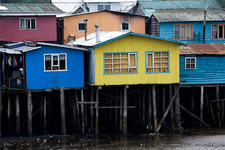 Houses on Stilts, Los Lagos Region, Chiloe Island, Chile Stock Photo - Rights-Managed, Code: 700-02046903