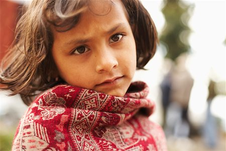 Portrait of Girl, Pokhara, Nepal Stock Photo - Rights-Managed, Code: 700-02047006