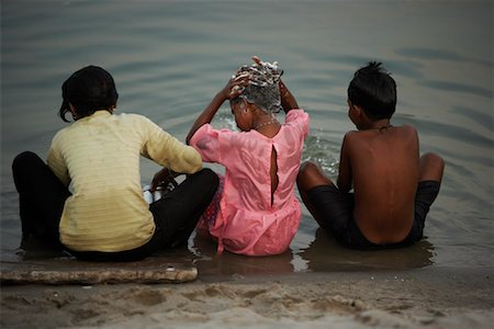 preteen girls bath - Children Bathing in River, Ganges River, Varanasi, India Stock Photo - Rights-Managed, Code: 700-02047028