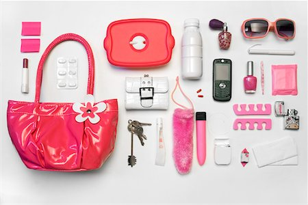 Still Life of Purse and It's Contents Stock Photo - Rights-Managed, Code: 700-02055610