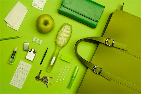 Still Life of Purse and It's Contents Stock Photo - Rights-Managed, Code: 700-02055613