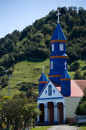 Chapel on Chiloe Island, Chile Stock Photo - Rights-Managed, Code: 700-02053450