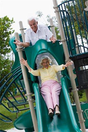 Senior Couple on Playground Stock Photo - Rights-Managed, Code: 700-02063357