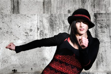 Female Hip Hop Dancer Wearing Hat Stock Photo - Rights-Managed, Code: 700-02063814