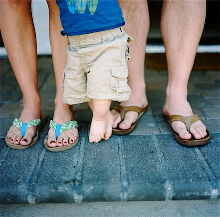 Close-Up of Family's Legs Stock Photo - Rights-Managed, Code: 700-02071321
