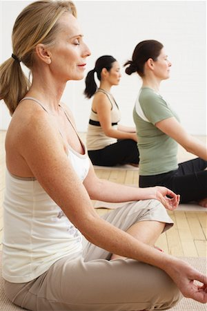 People Doing Yoga in Studio Stock Photo - Rights-Managed, Code: 700-02071504