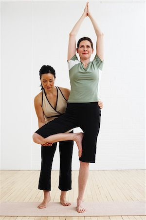 fitness   mature woman - Woman Exercising with Personal Trainer Stock Photo - Rights-Managed, Code: 700-02071507