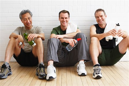 Men Sitting in Fitness Studio Stock Photo - Rights-Managed, Code: 700-02071525