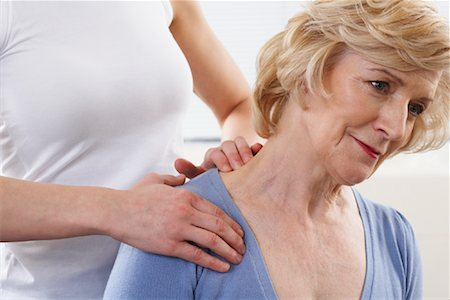 rehabilitation - Close-up of Woman Getting Neck Massaged Stock Photo - Rights-Managed, Code: 700-02071761