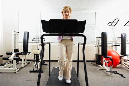 rehabilitation - Woman using Treadmill Stock Photo - Rights-Managed, Code: 700-02071773