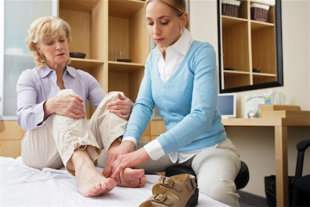 foot model - Physiotherapist Examining Woman's Foot Stock Photo - Rights-Managed, Code: 700-02071787