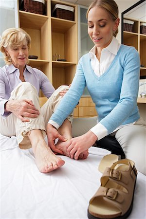 foot model - Physiotherapist Examining Woman's Foot Stock Photo - Rights-Managed, Code: 700-02071788
