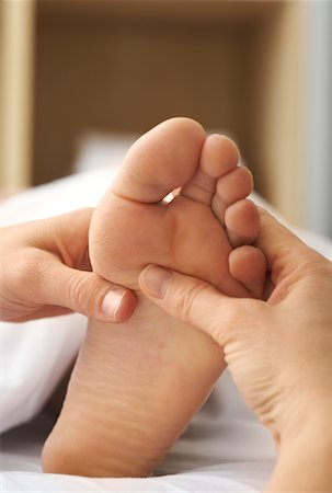 Close-up of Woman's Foot being Massaged Stock Photo - Rights-Managed, Code: 700-02071803