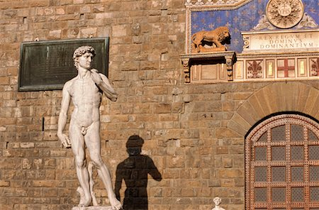 statue of david - Michelangelo's David, Piazza della Signoria, Florence, Tuscany, Italy Stock Photo - Rights-Managed, Code: 700-02080078
