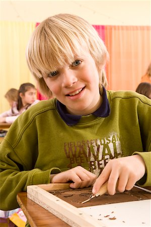Portrait of Boy in Classroom Stock Photo - Rights-Managed, Code: 700-02080338