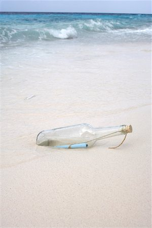 Message in a Bottle, Karpata, Bonaire, Netherlands Antilles Stock Photo - Rights-Managed, Code: 700-02080404